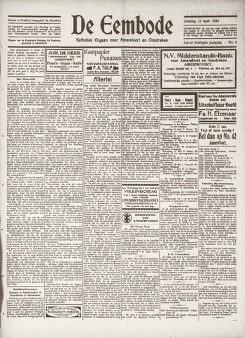 De Eembode 1932-04-12