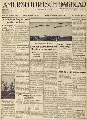 Amersfoortsch Dagblad / De Eemlander 1940-11-15