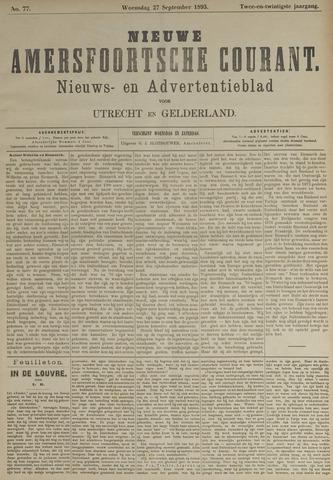 Nieuwe Amersfoortsche Courant 1893-09-27