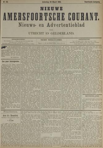 Nieuwe Amersfoortsche Courant 1885-03-28