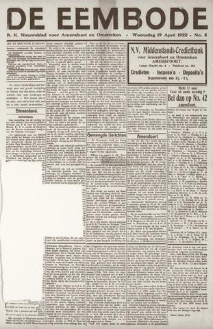De Eembode 1922-04-19