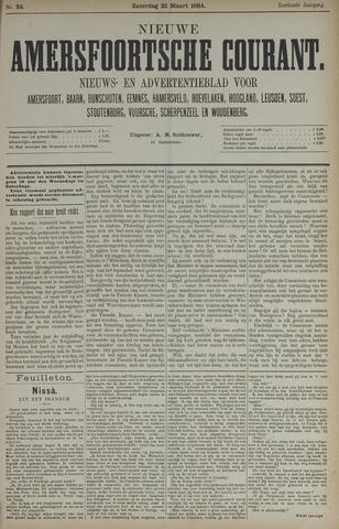 Nieuwe Amersfoortsche Courant 1884-03-22