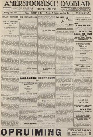 Amersfoortsch Dagblad / De Eemlander 1934-07-03