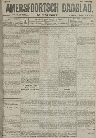 Amersfoortsch Dagblad / De Eemlander 1917-08-16