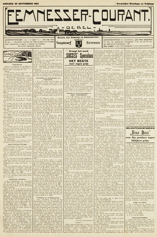 Eemnesser Courant 1924-09-30