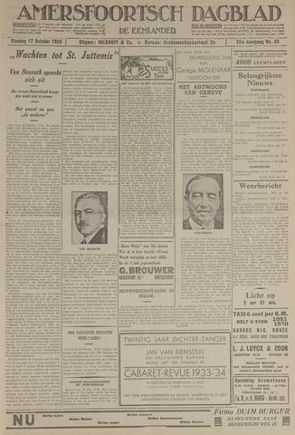 Amersfoortsch Dagblad / De Eemlander 1933-10-17
