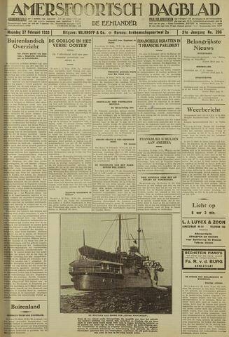 Amersfoortsch Dagblad / De Eemlander 1933-02-27