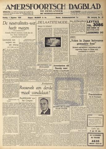 Amersfoortsch Dagblad / De Eemlander 1939-08-01
