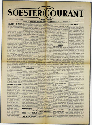 Soester Courant 1952-01-09