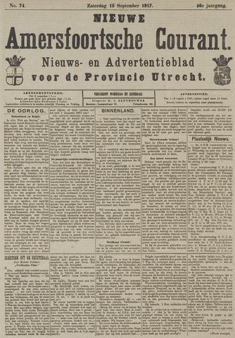 Nieuwe Amersfoortsche Courant 1917-09-15
