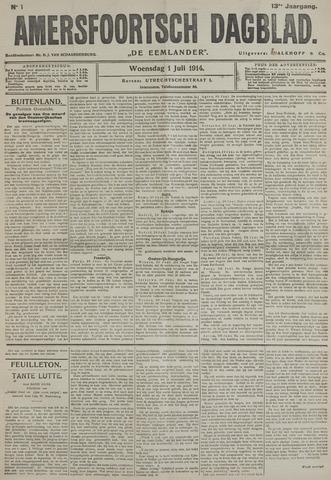 Amersfoortsch Dagblad / De Eemlander 1914-07-01