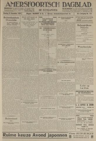 Amersfoortsch Dagblad / De Eemlander 1933-11-21