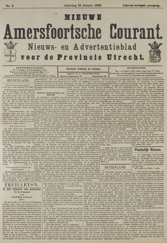 Nieuwe Amersfoortsche Courant 1909-01-30