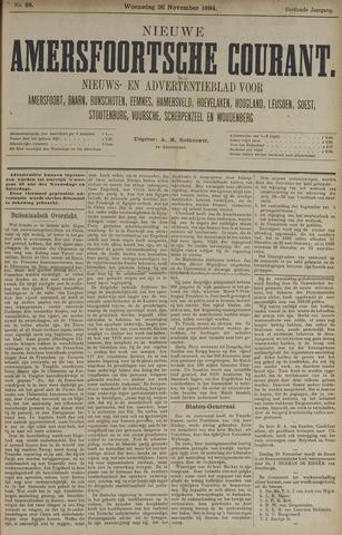 Nieuwe Amersfoortsche Courant 1884-11-26