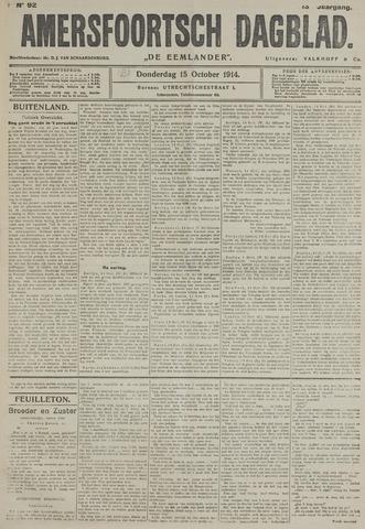 Amersfoortsch Dagblad / De Eemlander 1914-10-15