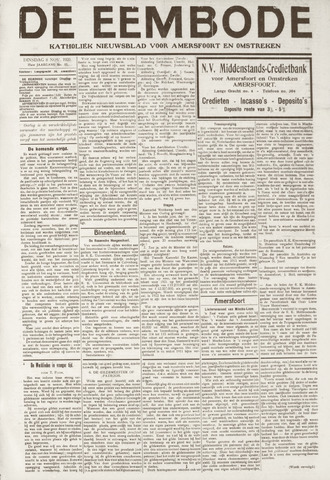 De Eembode 1921-11-08