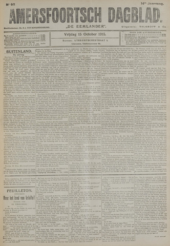 Amersfoortsch Dagblad / De Eemlander 1915-10-15