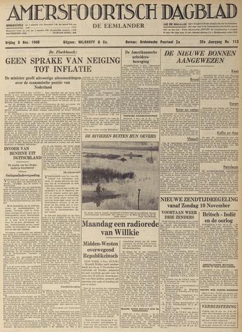 Amersfoortsch Dagblad / De Eemlander 1940-11-08