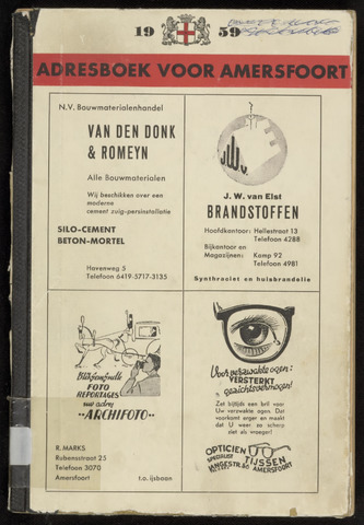 Adresboeken Amersfoort 1959