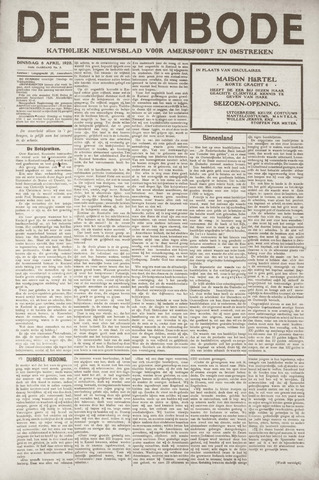 De Eembode 1920-04-06