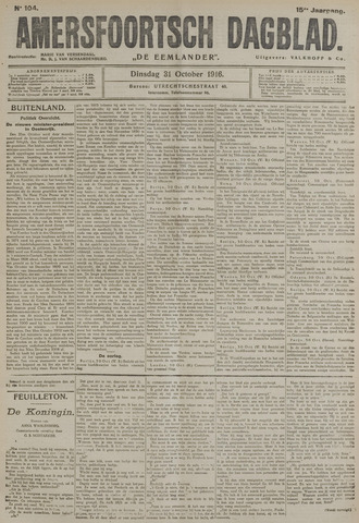 Amersfoortsch Dagblad / De Eemlander 1916-10-31