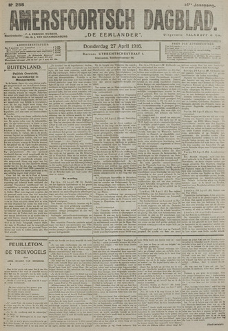 Amersfoortsch Dagblad / De Eemlander 1916-04-27