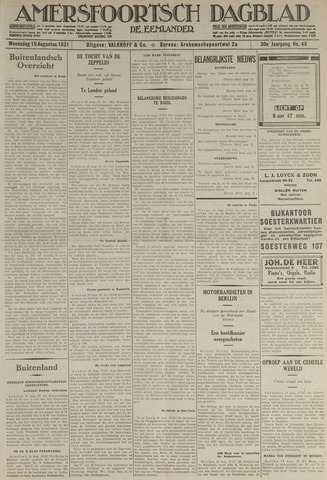 Amersfoortsch Dagblad / De Eemlander 1931-08-19