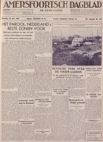 Amersfoortsch Dagblad / De Eemlander 1940-06-26