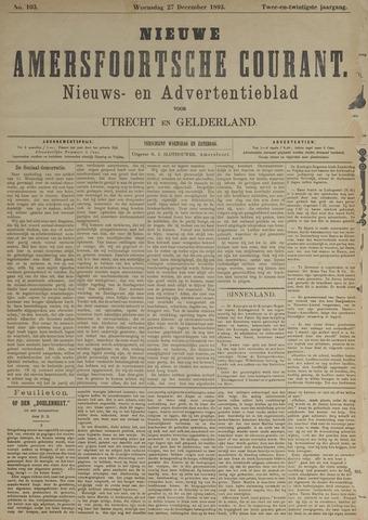 Nieuwe Amersfoortsche Courant 1893-12-27