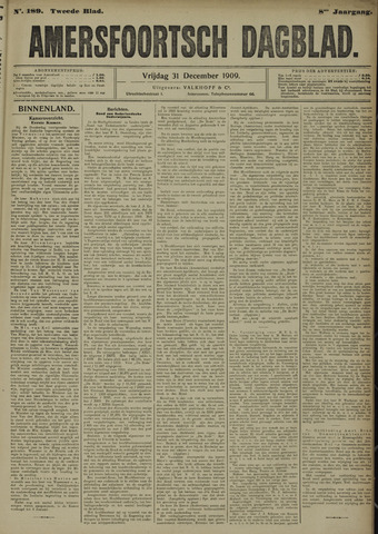 Amersfoortsch Dagblad 1909-12-31