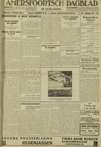 Amersfoortsch Dagblad / De Eemlander 1933-02-11