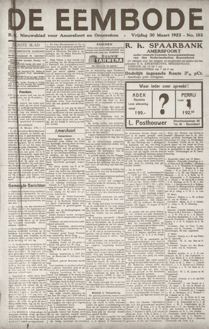 De Eembode 1923-03-30