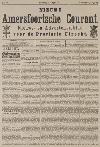 Nieuwe Amersfoortsche Courant 1911-04-22