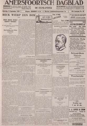 Amersfoortsch Dagblad / De Eemlander 1934-09-15