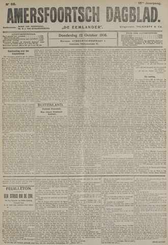 Amersfoortsch Dagblad / De Eemlander 1916-10-12