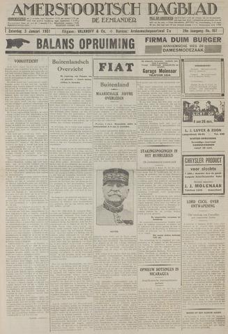 Amersfoortsch Dagblad / De Eemlander 1931-01-03