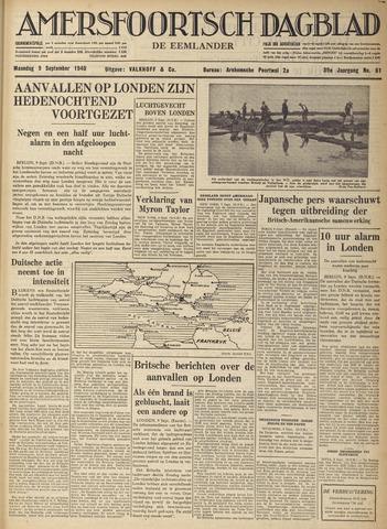 Amersfoortsch Dagblad / De Eemlander 1940-09-09