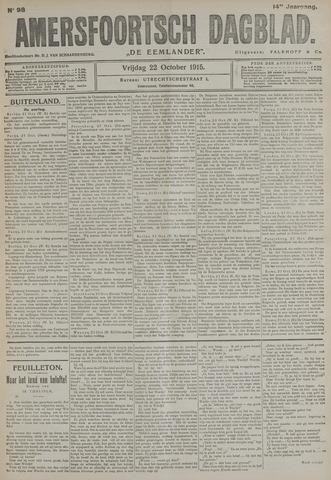 Amersfoortsch Dagblad / De Eemlander 1915-10-22