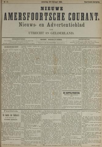 Nieuwe Amersfoortsche Courant 1885-02-28