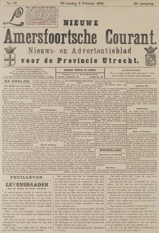Nieuwe Amersfoortsche Courant 1916-02-09
