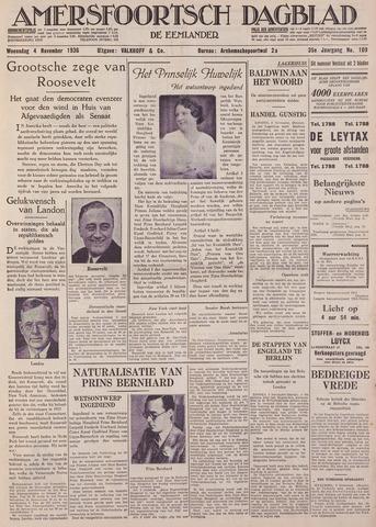 Amersfoortsch Dagblad / De Eemlander 1936-11-04