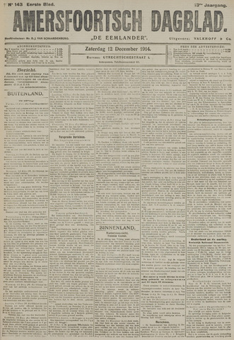 Amersfoortsch Dagblad / De Eemlander 1914-12-12