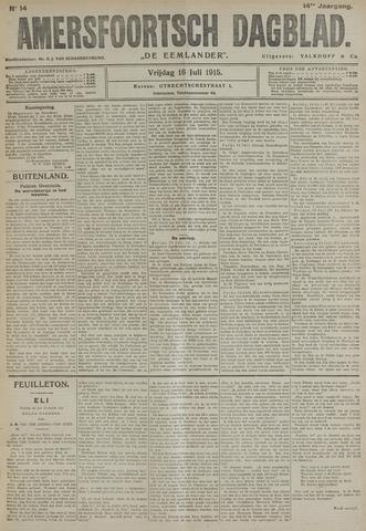 Amersfoortsch Dagblad / De Eemlander 1915-07-16