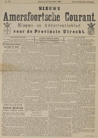 Nieuwe Amersfoortsche Courant 1903-11-21