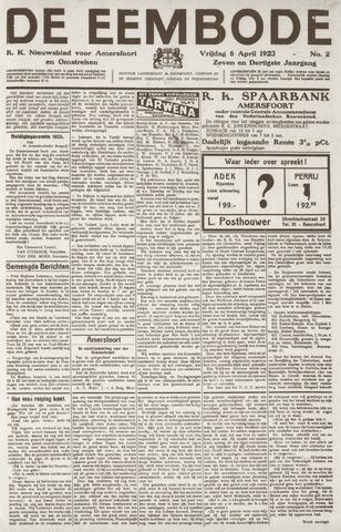 De Eembode 1923-04-06