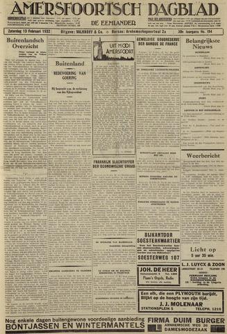Amersfoortsch Dagblad / De Eemlander 1932-02-13
