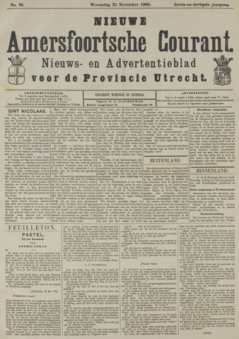 Nieuwe Amersfoortsche Courant 1908-11-25