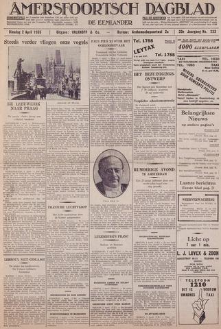Amersfoortsch Dagblad / De Eemlander 1935-04-02
