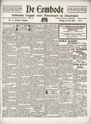 De Eembode 1930-04-22