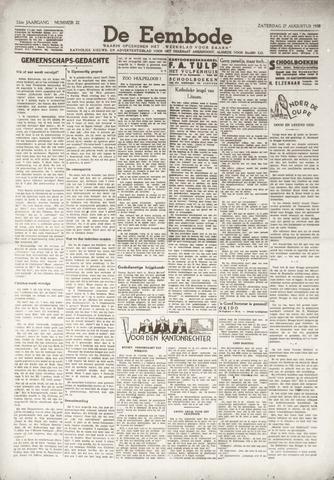 De Eembode 1938-08-27